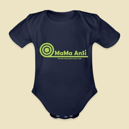 MaMa AnSi G logo - Kortærmet babybody, økologisk bomuld