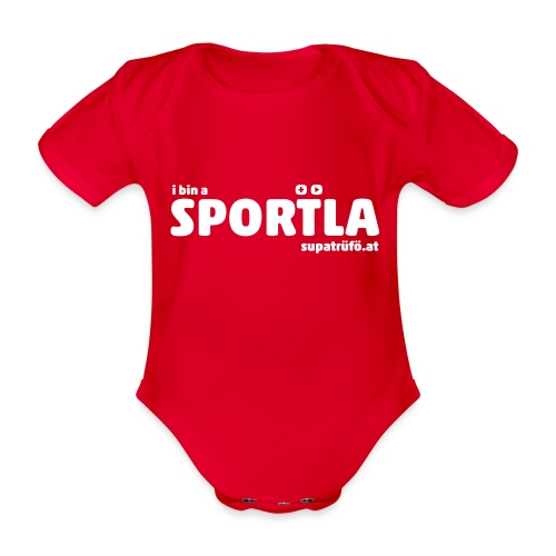 i bin a supatrüfö sportla - Baby Bio-Kurzarm-Body