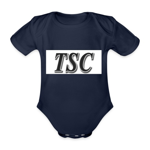 TSC Black Text - Organic Short-sleeved Baby Bodysuit