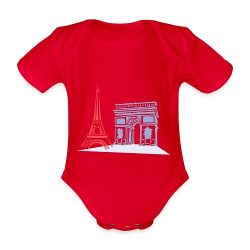 Paris - Body Bébé bio manches courtes
