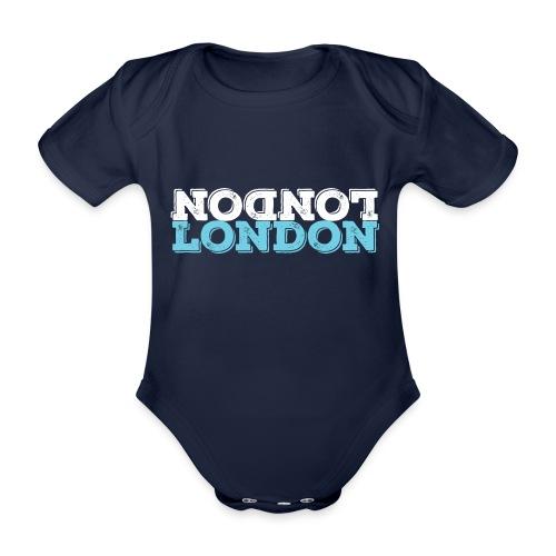 London Souvenir - Upside Down London - Baby Bio-Kurzarm-Body