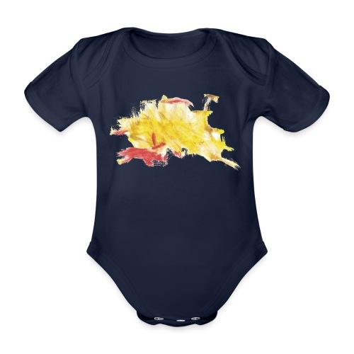 gelbes Kritzel - Baby Bio-Kurzarm-Body