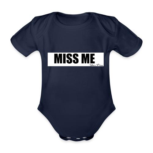 MISS ME - Organic Short-sleeved Baby Bodysuit