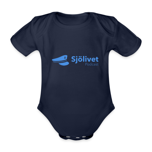 Sjölivet podcast - Svart logotyp - Ekologisk kortärmad babybody