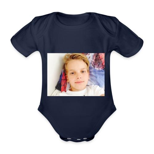 first design - Kortærmet babybody, økologisk bomuld