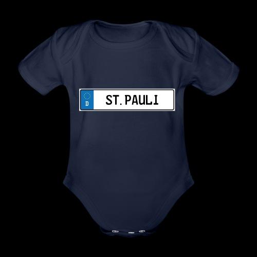 Kennzeichen St.Pauli - Baby Bio-Kurzarm-Body