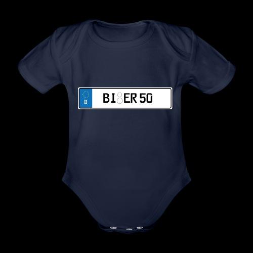 Kennzeichen Bier - Baby Bio-Kurzarm-Body