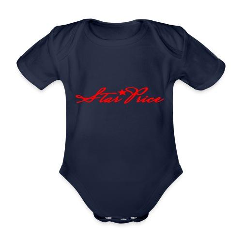 star price (red) - Organic Short-sleeved Baby Bodysuit