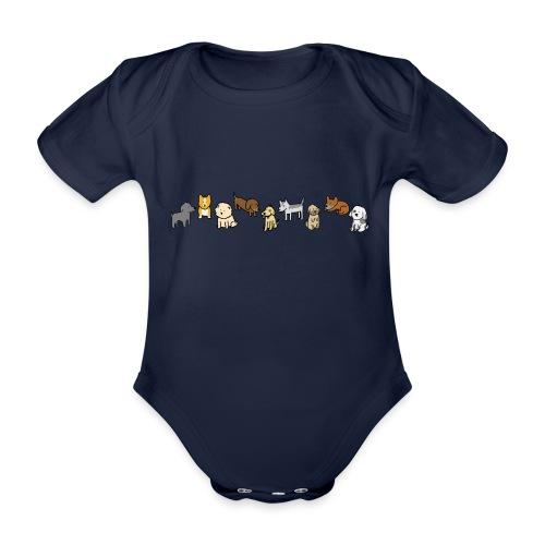 Doggos - Organic Short-sleeved Baby Bodysuit
