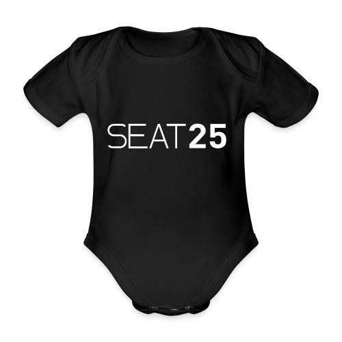 Seat25 Logo Light - Organic Short-sleeved Baby Bodysuit
