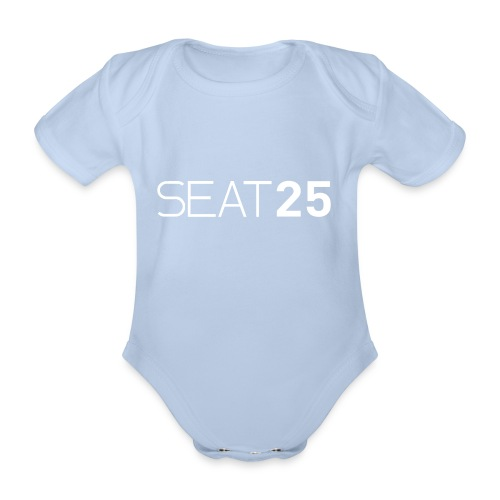 Seat25 Logo Light - Organic Short-sleeved Baby Bodysuit