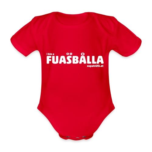 supatrüfö fuasballa - Baby Bio-Kurzarm-Body