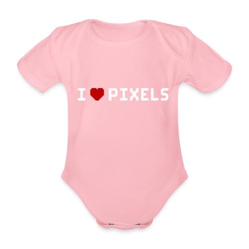 I Love Pixels - Kortærmet babybody, økologisk bomuld