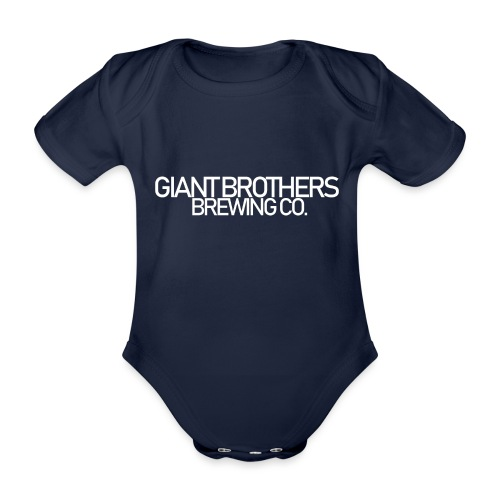 Giant Brothers Brewing co white - Ekologisk kortärmad babybody