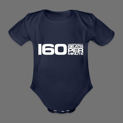 160 BPM (white long) - Organic Short-sleeved Baby Bodysuit