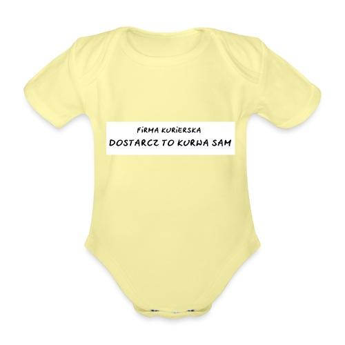 firma kurierska tyl - Ekologiczne body niemowlęce z krótkim rękawem