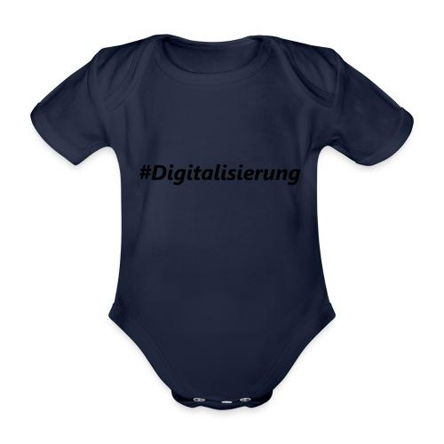 #Digitalisierung black - Baby Bio-Kurzarm-Body