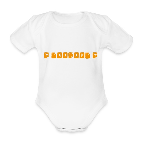 P loofool P - Orange logo - Økologisk kortermet baby-body