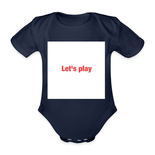 Let's play - Organic Short-sleeved Baby Bodysuit