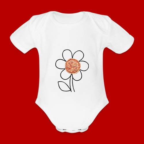 Pizzaflower Edition - Baby Bio-Kurzarm-Body