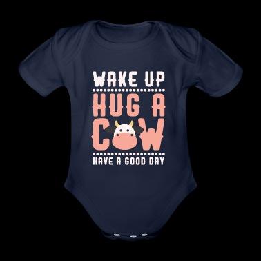 VAKNA HUG A KO - Ekologisk kortärmad babybody