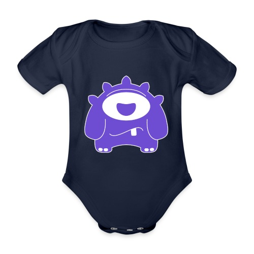 Main character design from the smashET game - Organic Short-sleeved Baby Bodysuit