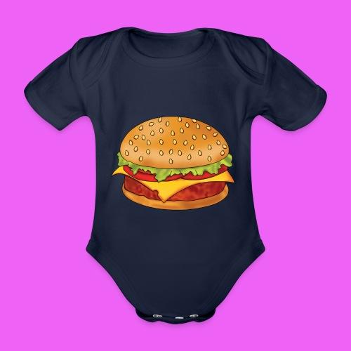 hamburguesa - Body orgánico de maga corta para bebé