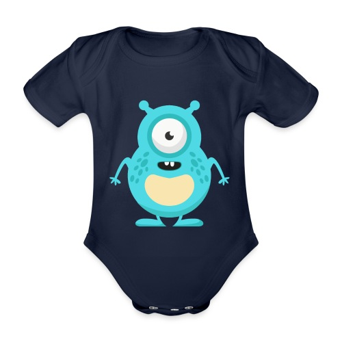 monster5 - Økologisk kortermet baby-body