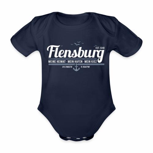 Flensburg - meine Heimat, mein Hafen, mein Kiez - Baby Bio-Kurzarm-Body