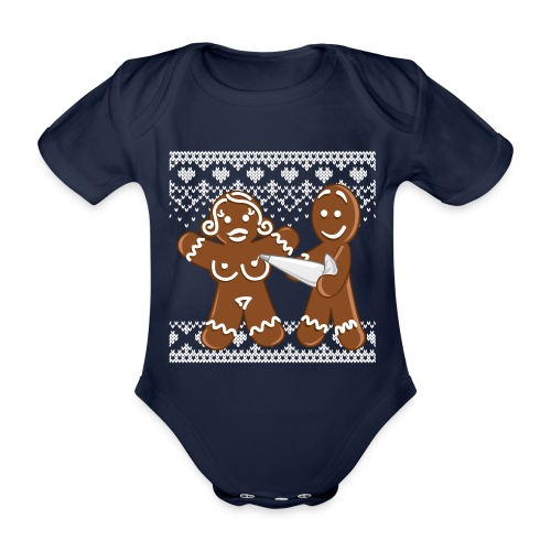christmas - gingerbread love - Lebkuchen - Baby Bio-Kurzarm-Body