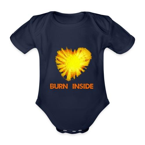 Burn inside - Body ecologico per neonato a manica corta