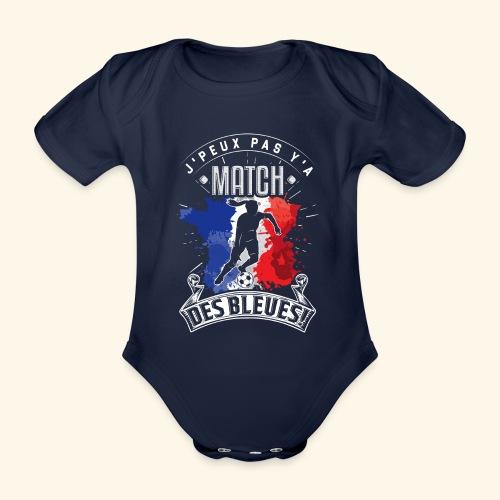 Les Bleues FOOTBALLEUSE - Equipe de France féminin - Body Bébé bio manches courtes