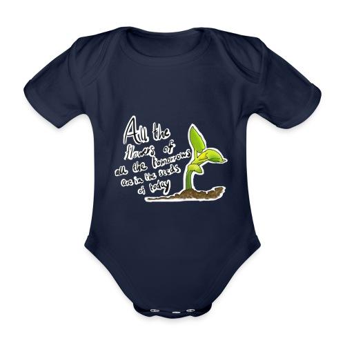 Life Quote - Organic Short-sleeved Baby Bodysuit