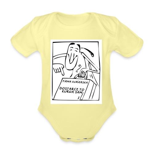 firma kurierska przod - Ekologiczne body niemowlęce z krótkim rękawem
