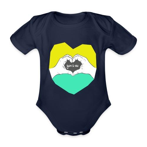 hearthands you & me Poly Herz illustration - Baby Bio-Kurzarm-Body