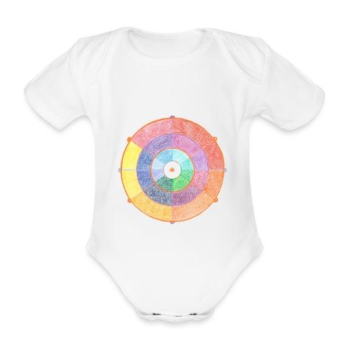 Creativity Rainbow originale png - Body ecologico per neonato a manica corta