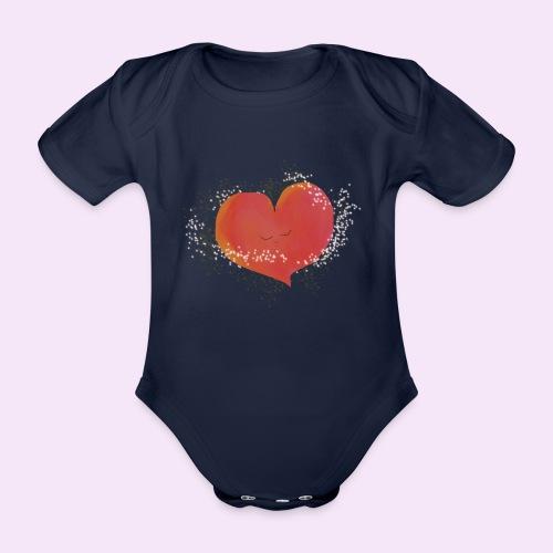Blozend hartje kinder baby shirt - Baby bio-rompertje met korte mouwen