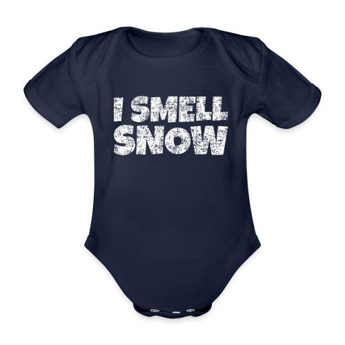 I Smell Snow Schnee, Weihnachten & Wintersport - Baby Bio-Kurzarm-Body