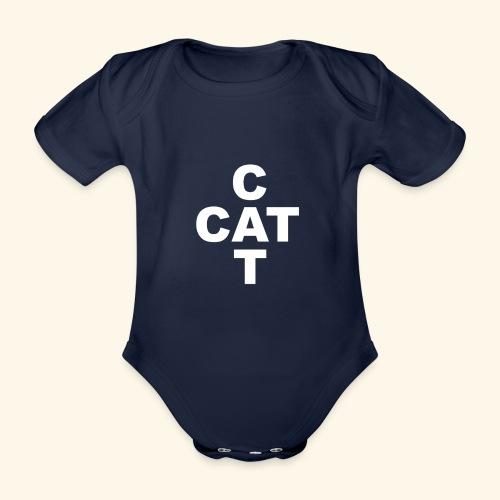 Katze Kätzchen Kater CAT Geschenk - Baby Bio-Kurzarm-Body