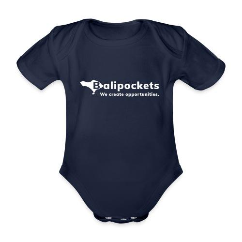 Balipockets Logo Weiß - Baby Bio-Kurzarm-Body