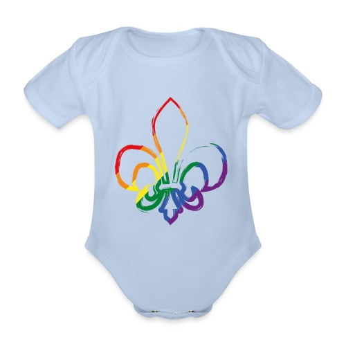 Pinselstrich Lilie Regebogenfahne - Baby Bio-Kurzarm-Body