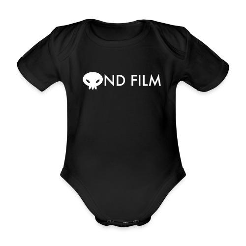 ondfilm w row - Organic Short-sleeved Baby Bodysuit