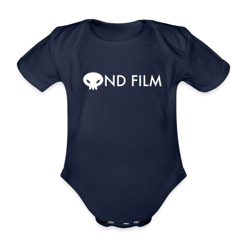 ondfilm w row - Organic Short-sleeved Baby Bodysuit