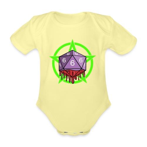 Würfel RPG Spiel Rollenspiele 666 mit Pentagramm - Baby Bio-Kurzarm-Body