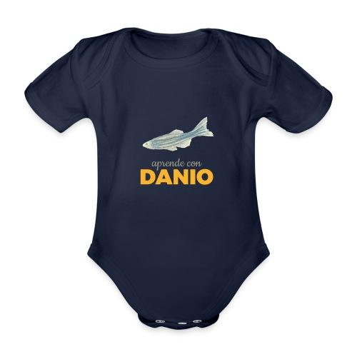 Camisetas Danio Aprende con Danio - Body orgánico de maga corta para bebé