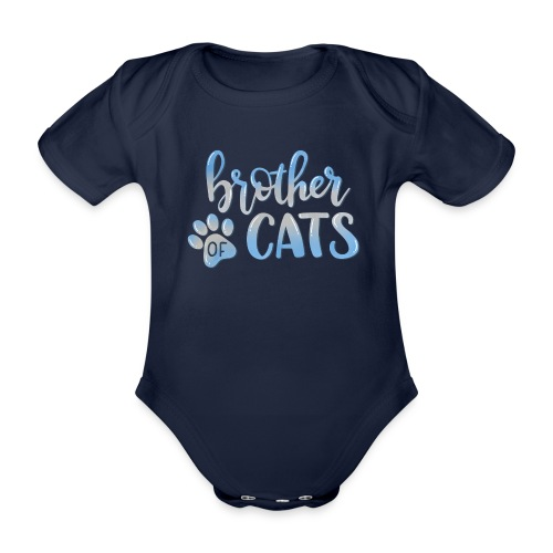 brother of cats - Baby Bio-Kurzarm-Body