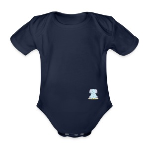 The little elephant - Organic Short-sleeved Baby Bodysuit