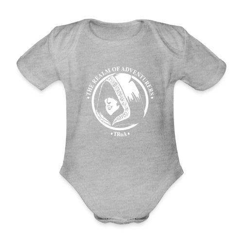 TRoA Logo hvid - Kortærmet babybody, økologisk bomuld