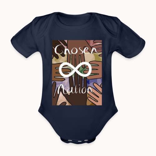 Chosen nation - Baby bio-rompertje met korte mouwen