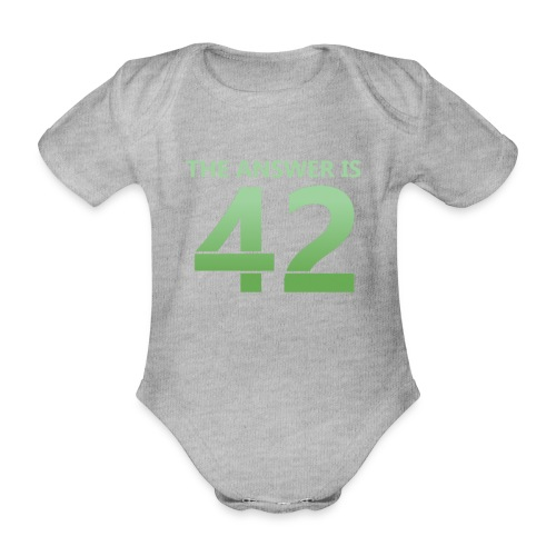 42 - Organic Short-sleeved Baby Bodysuit